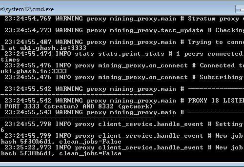 Guida semi-avanzata, breve e non esaustiva su come attivare un proxy server per il mining di criptovalute